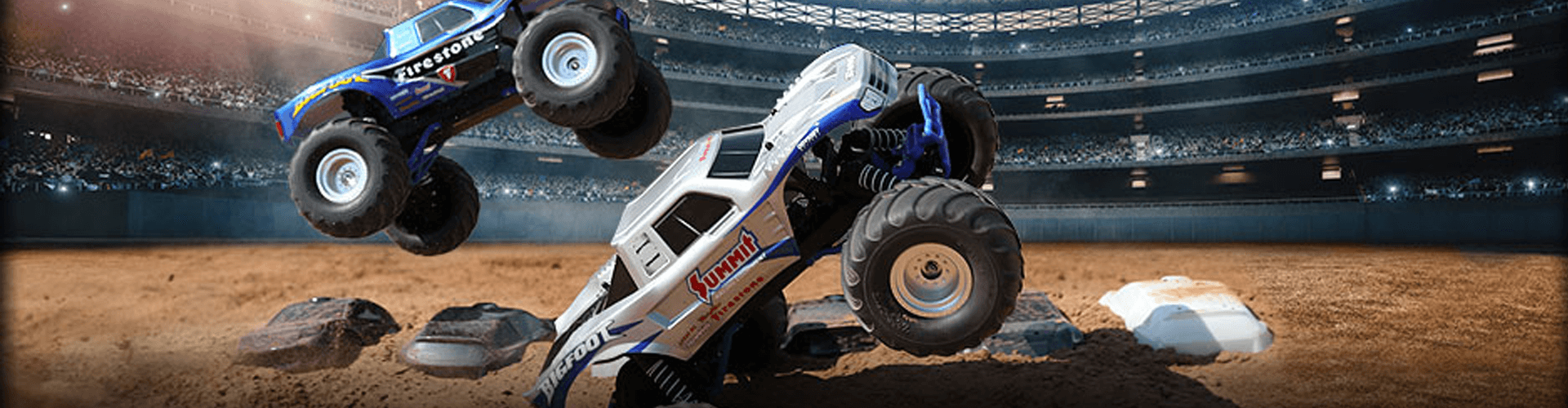 Big wheels on dirt track